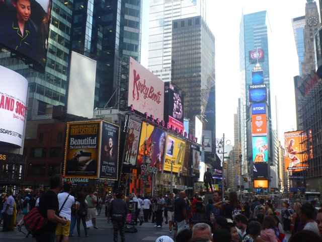Times Square during day