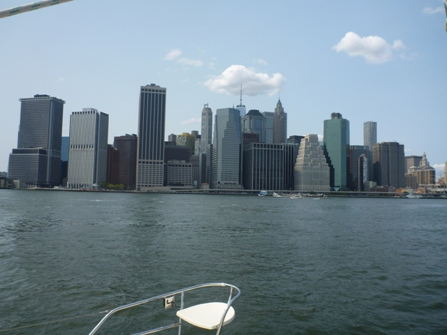 Lower Manhattan start of the East River