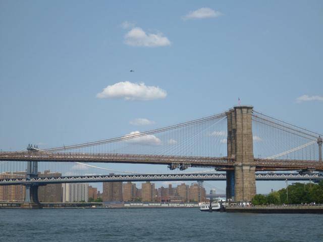 The famous Brooklyn bridge