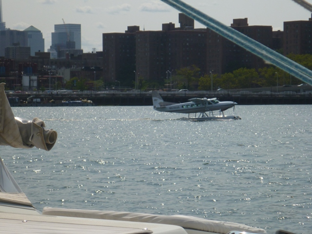 Float Plane landing on River