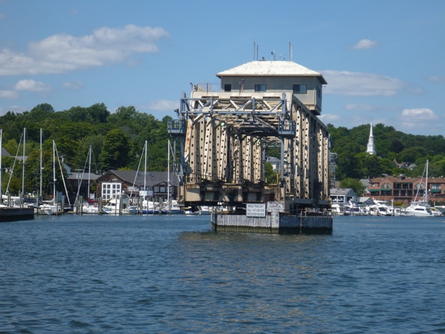 Swinging Rail bridge on way up to Mystic
