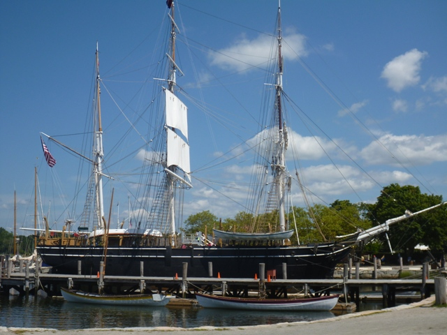 The Charles W. Morgan built in 1841 at the museum