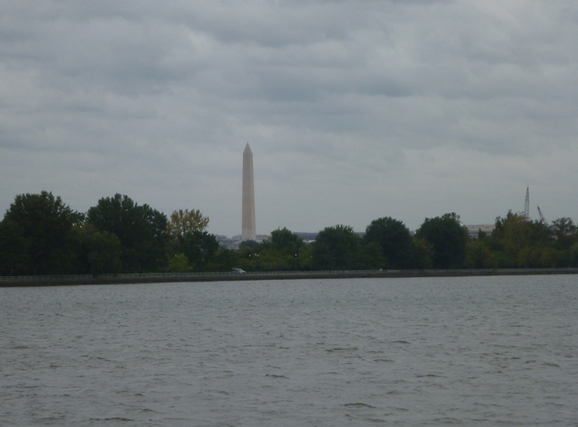 Washington monument on the skyline