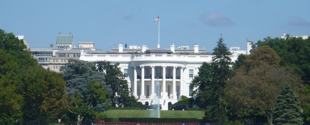 White House, see guard on top of roof