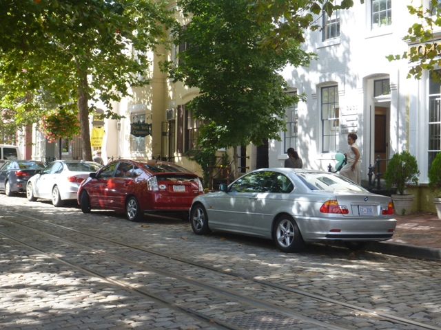 Love the Cobblestone streets in Georgetown