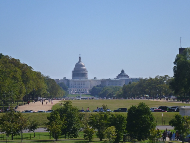 From the Washington Monument along the National Mall to the US Capitol