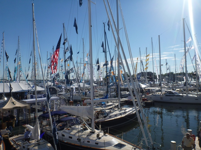 Boats crammed in at the show