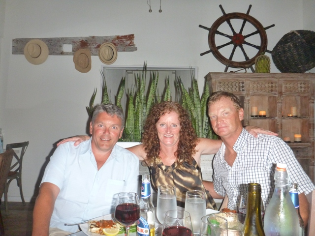 Dinner out at Staniel Cay Yacht Club; very tasty