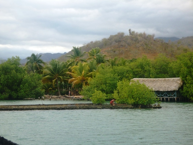 Chivrico - a great anchorage in a lagoon behind the reef