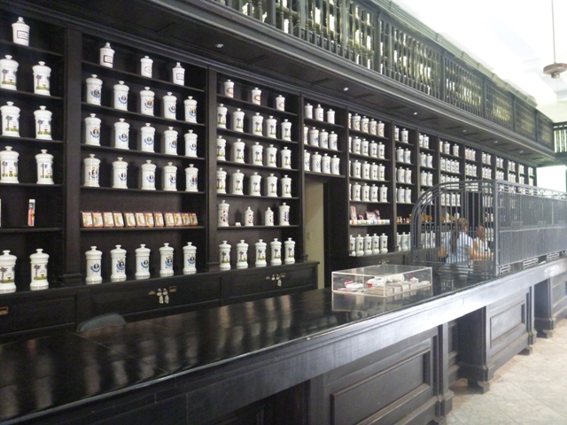 A pharmacy on Calle Obispo. The pharmacy was mostly a display as they had very few items to actually sell - like many of the government run shops