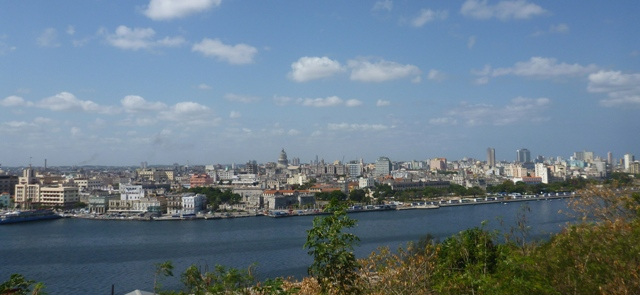 The view to Habana from the Christ statue near Fort de San Carlos.