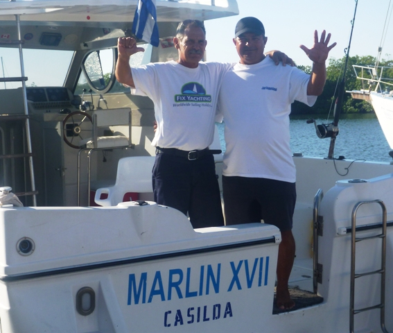 These guys work for the Trinidad marina taking tourists fishing every day and joked with us every day