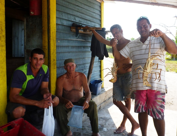 The staff at Cayo Cantilles who gave us lots and lots of lobster