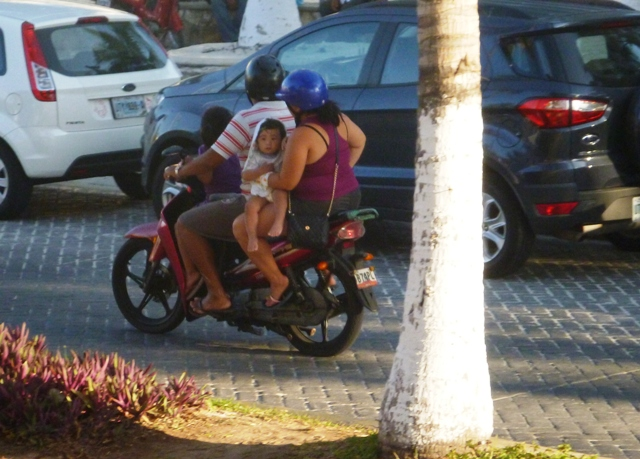 We loved seeing families all on one motorcycle