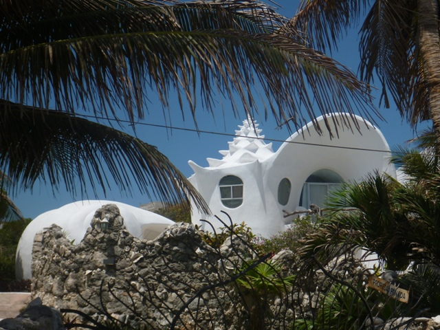 there's some very nice homes for rent including this interesting shell structure home