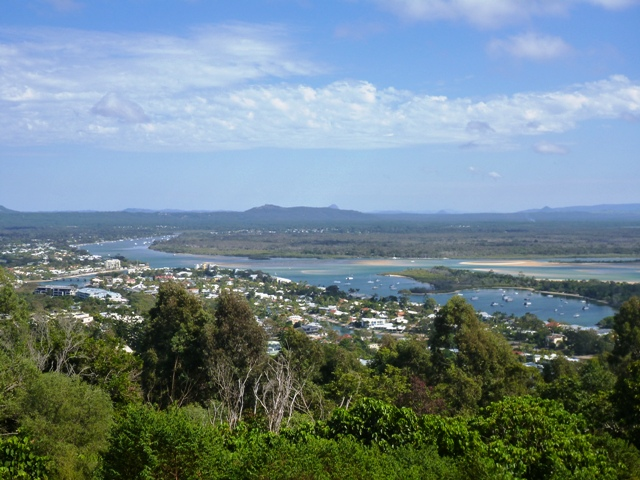 Overlooking Noosa a popular holiday destination