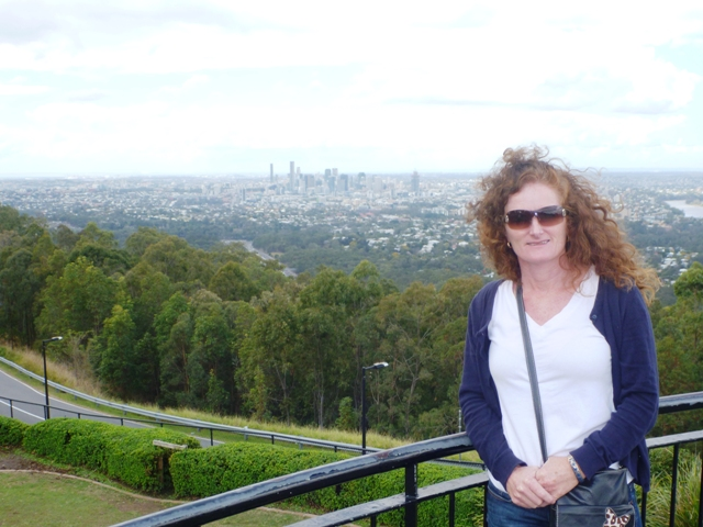 Brisbane's downtown core is quite compact; view from Mt Coot-Ta lookout