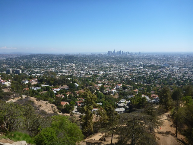 couldn't resist the stop here to see the views of LA, which is huge