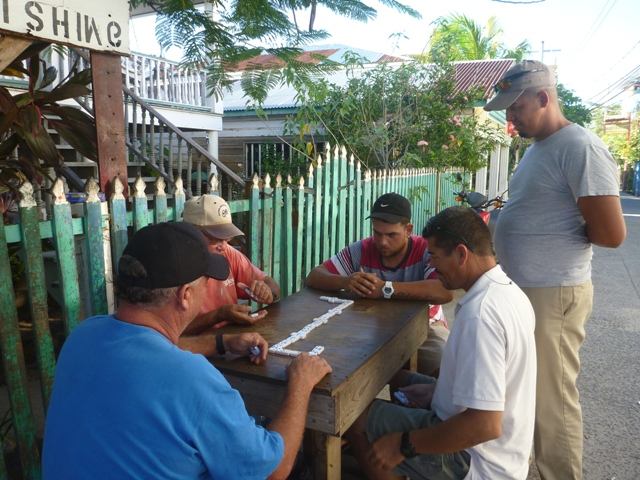 every day we were there the Locals were playing dominoes in the street