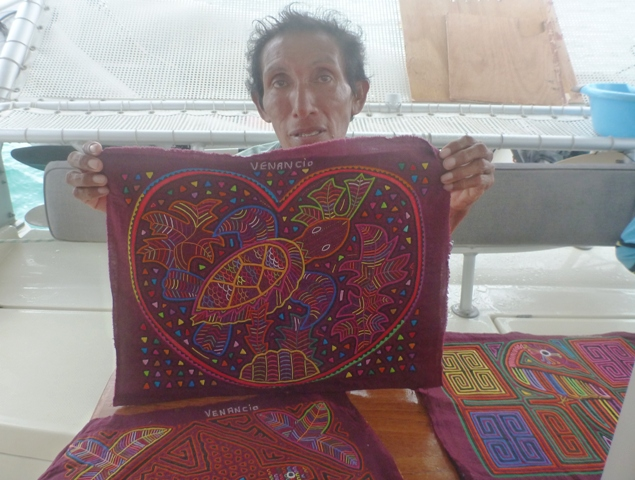 Venacio with some molas I bought