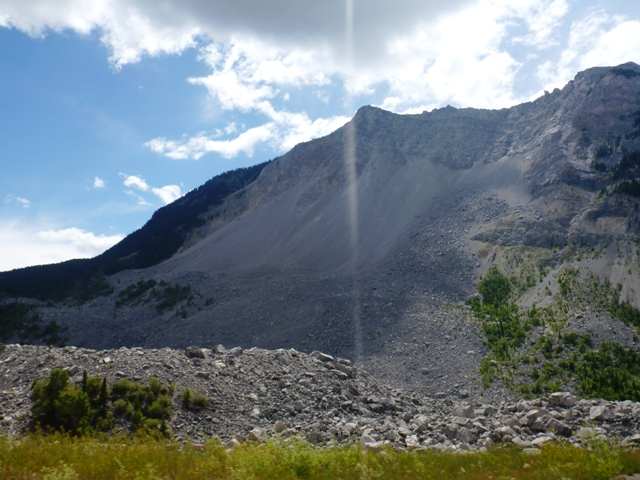 Frank Slide was a rockslide that buried the mining town of Frank in 1903.