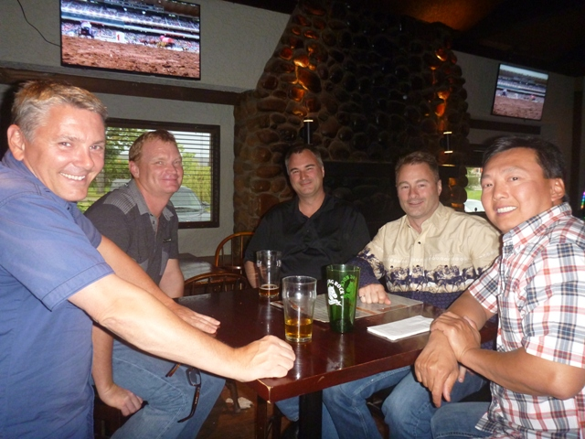 The Calgary Stampede was on so we caught up for chicken wings with Doug, Todd, Dave & Bob
