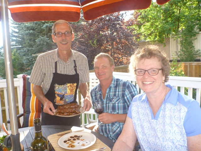 Alberta beef (yummy) with Tim & Kathy