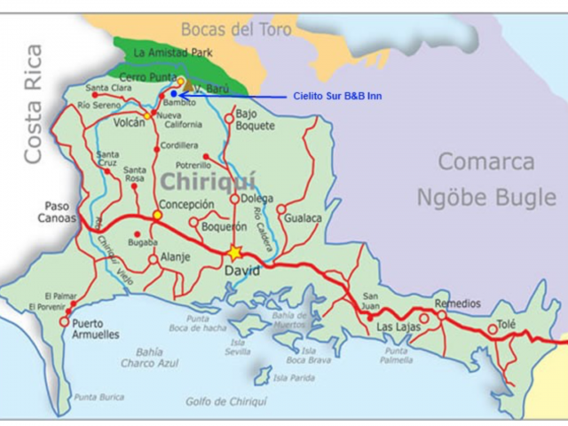 Chiriqui map