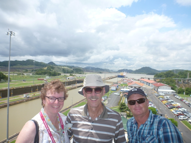 out at the MiraFlores Lock