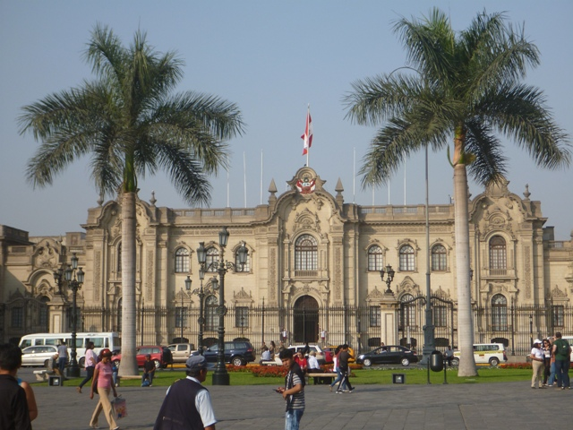 Presidential Palace - Peru's President works