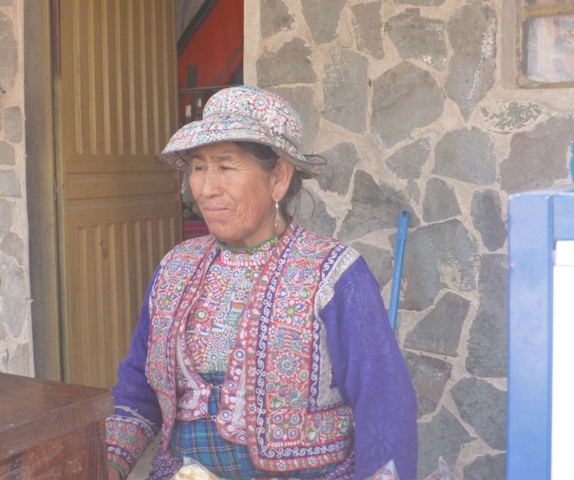 Collagua hats and clothing worn by the women