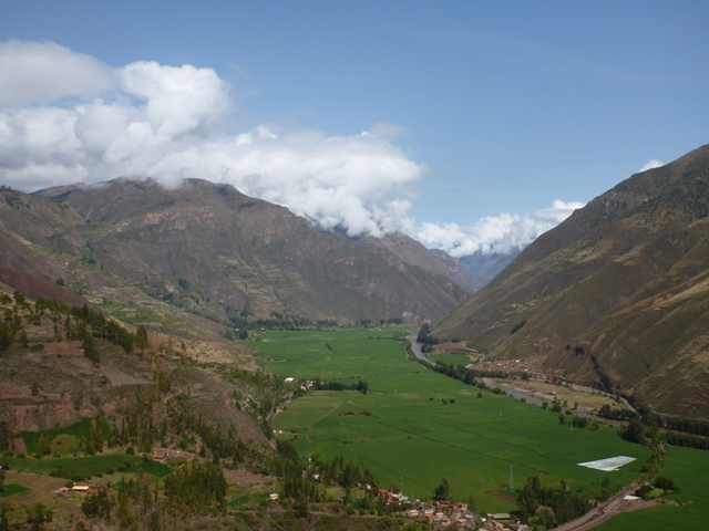 lots of vege farming in the Sacred Valley near Cusco