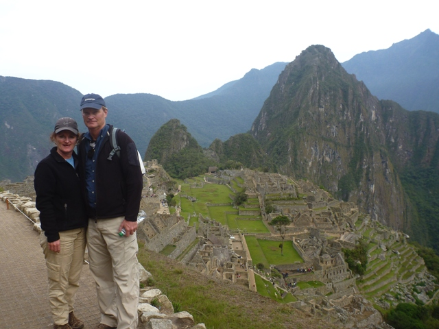 Machu Picchu ruins with Huayna Picchu in the background